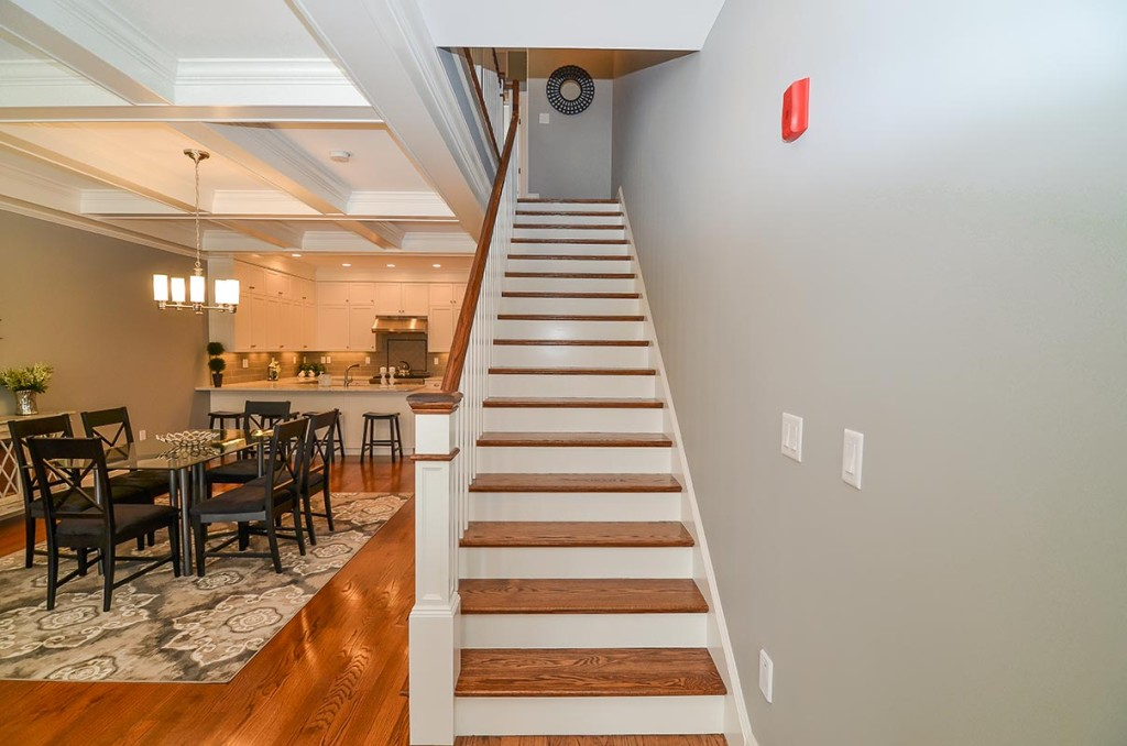 Gorgeous extra wide oak stairs
