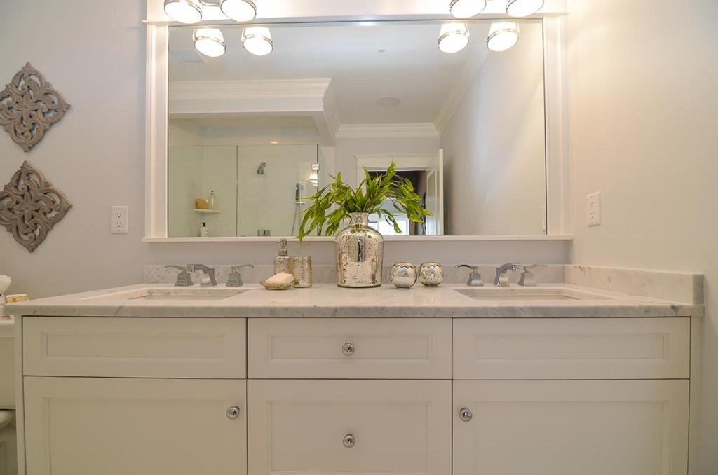 Each master bath features dual sinks